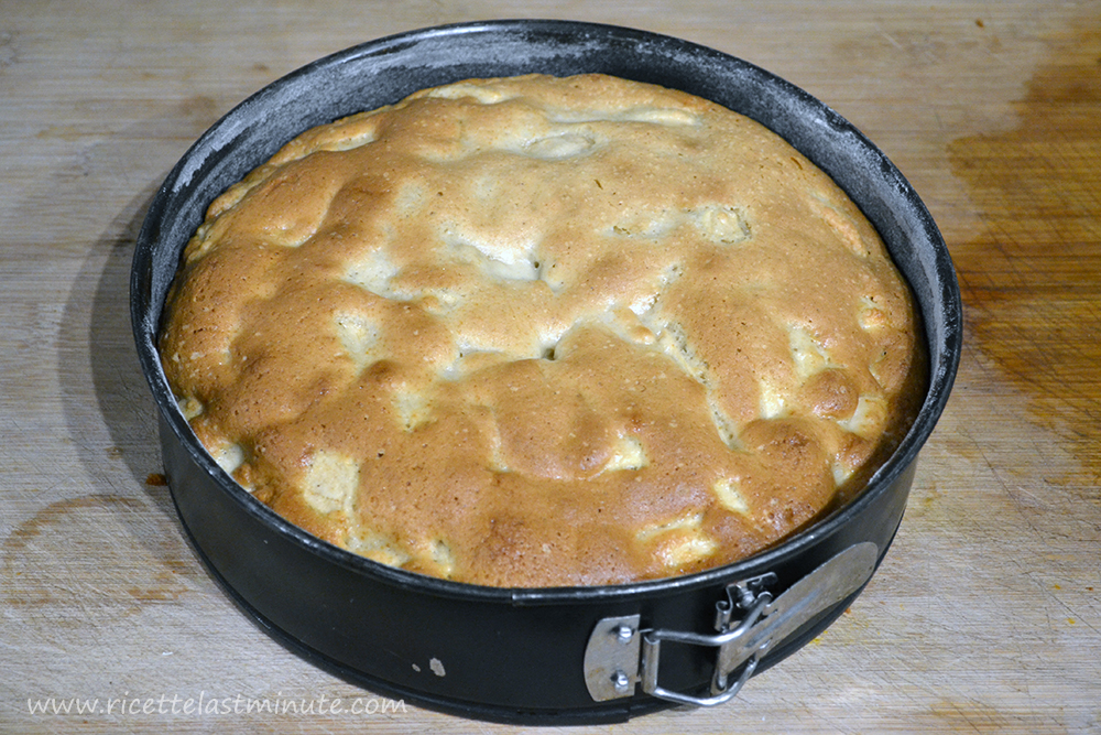 Apple pie in a pan already cooked