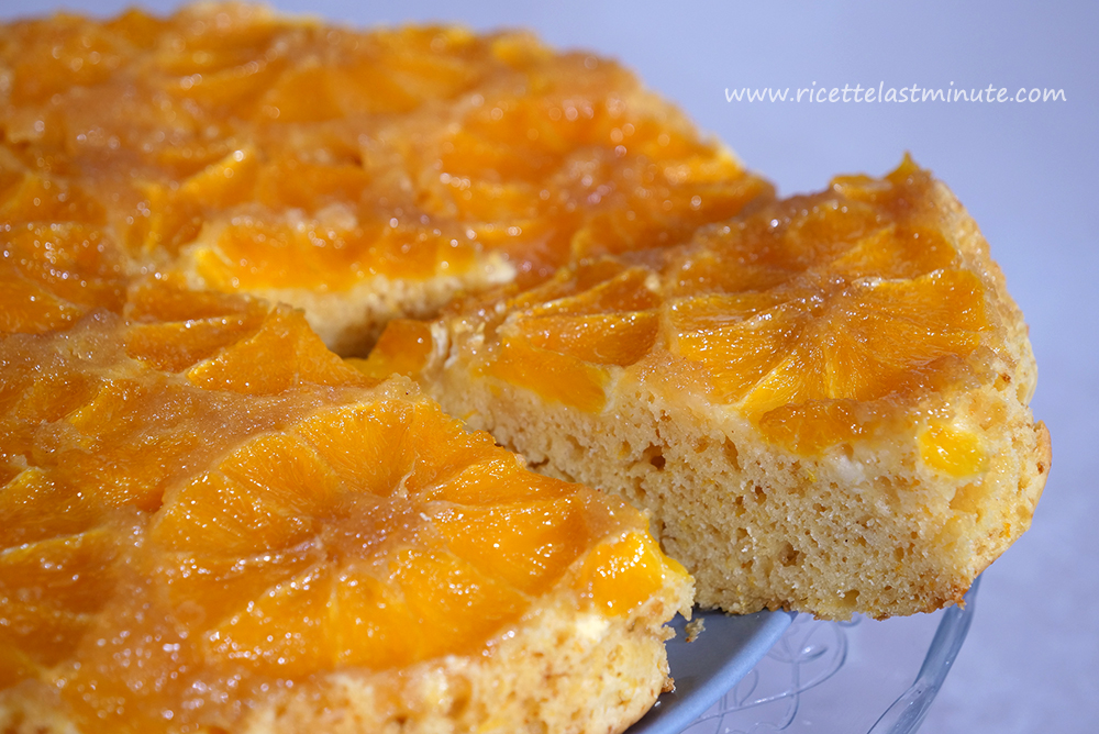 Orange upside-down cake