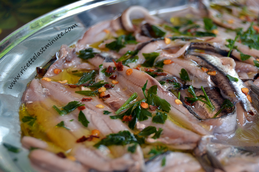Marinated anchovies recipe