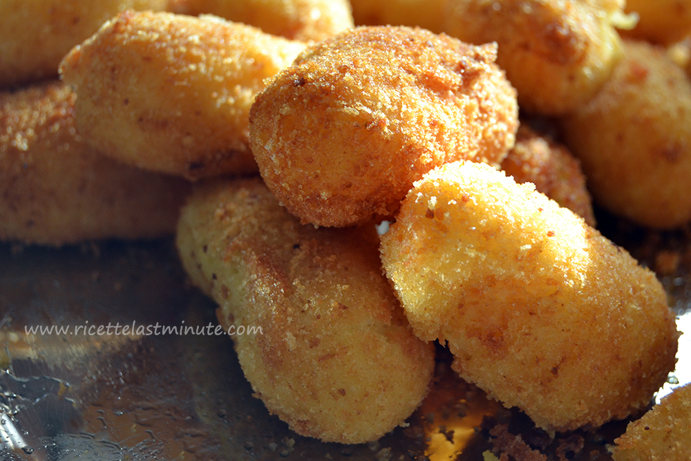 Potato croquettes with cheese recipe