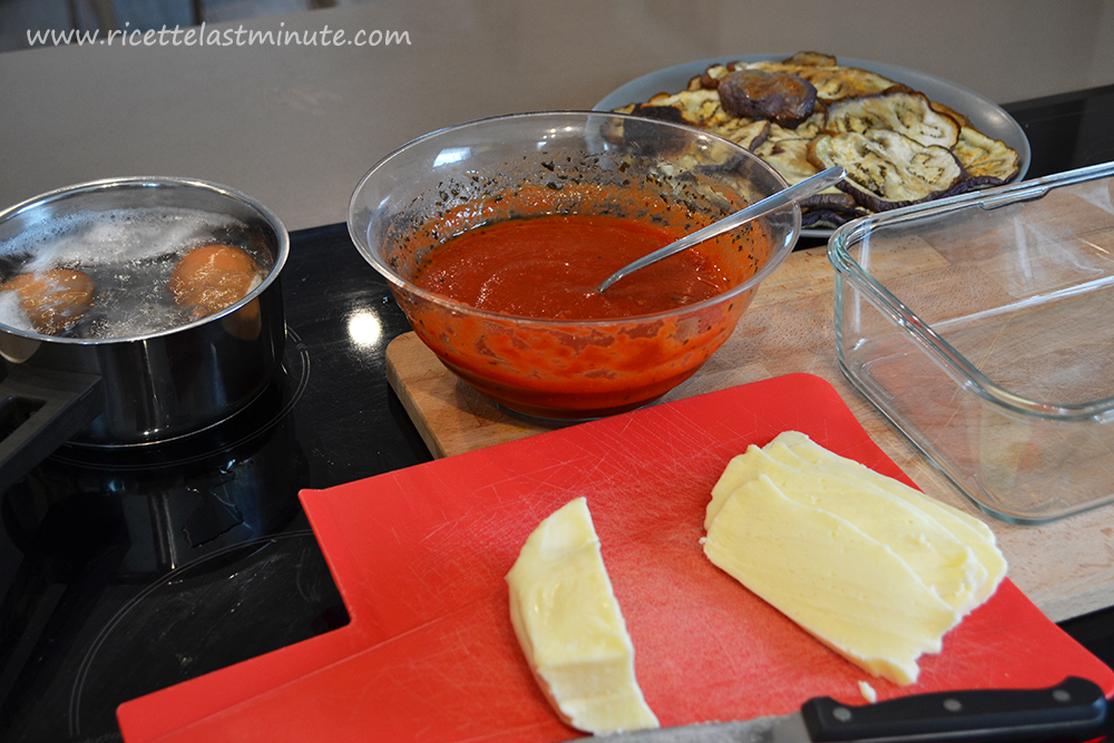 Ingredients ready to create parmigiana