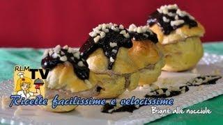Bignè alle nocciole (dessert facilissimo e velocissimo)