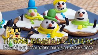Biscotti con decorazione natalizia facile e veloce