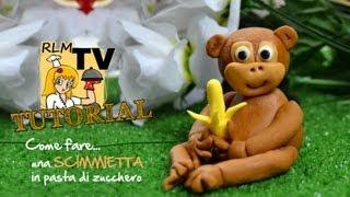 Come fare una scimmia in pasta di zucchero