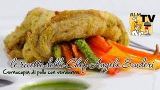 Cornucopia di pollo con verdurine