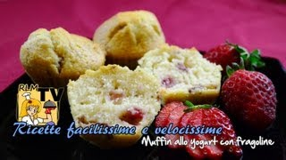 Muffin allo yogurt con fragoline