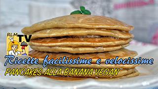 Pancakes alla banana vegan