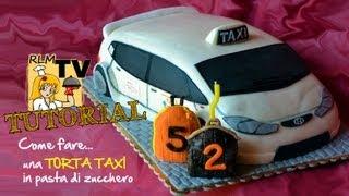 Torta taxi in pasta di zucchero (procedimento)