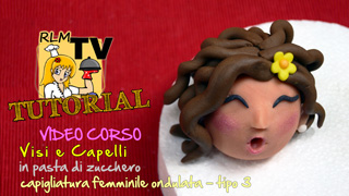 VIDEO CORSO: Visi e capelli in pdz - Capigliatura femminile riccia - tipo 3