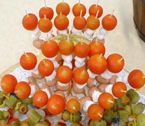 Spiedini mozzarella e pomodorini