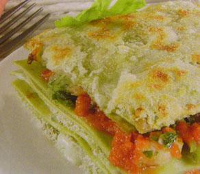 Lasagne con gamberi