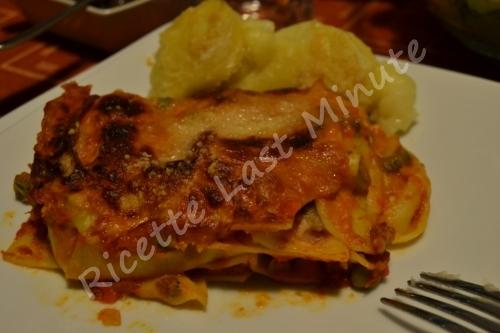 Lasagne con ragù vegetariano