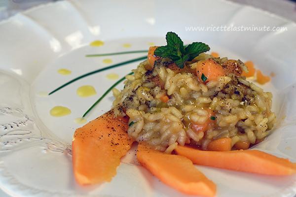 Risotto con melone di Cantalupo