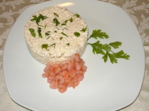 Risotto salmone e gamberetti