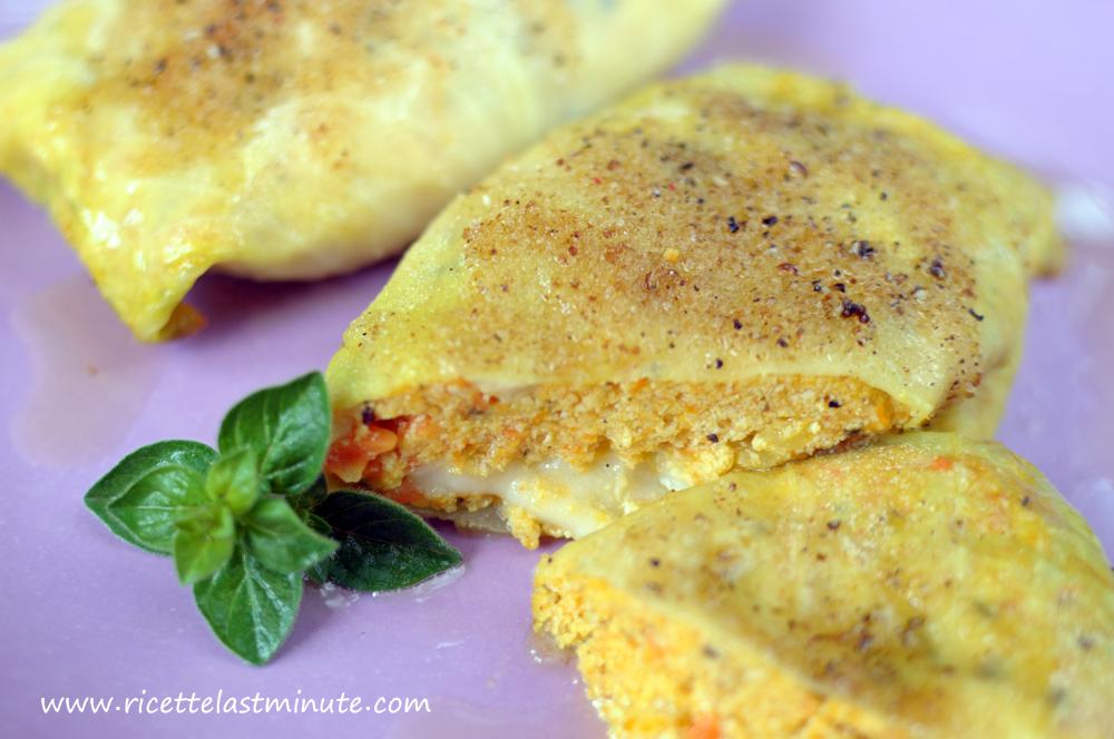 Fagottini di cavolo con tofu e carote