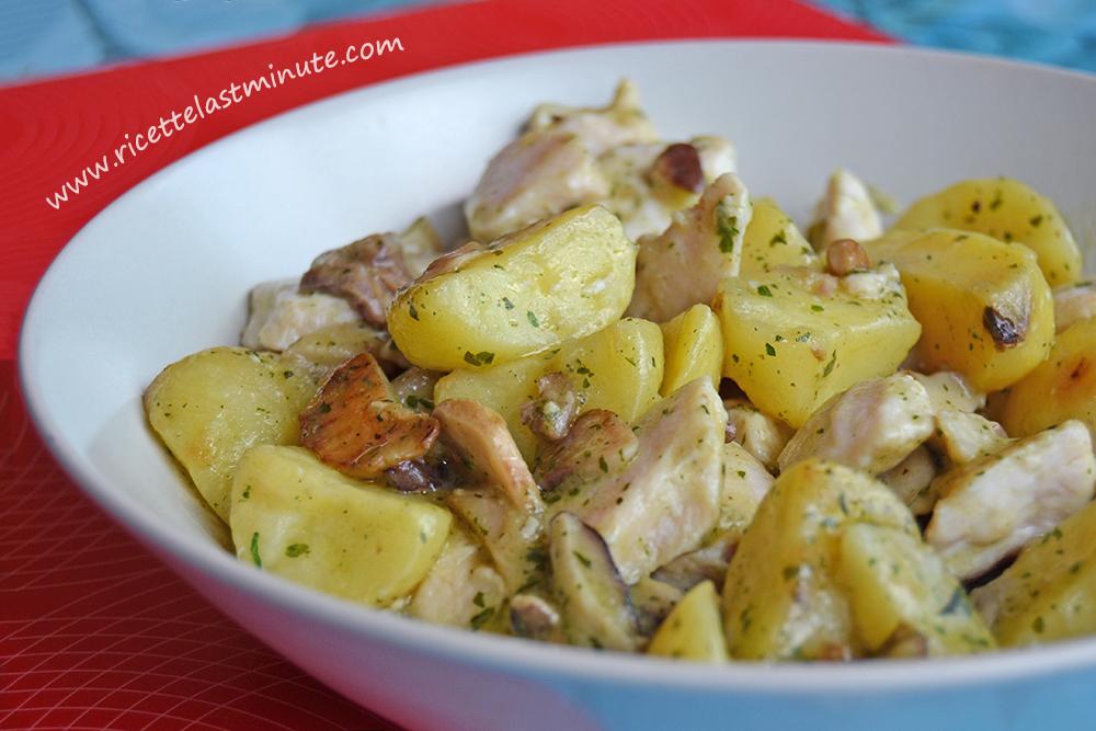 Ricette Last MinuteInsalata di pollo alla boscaiola