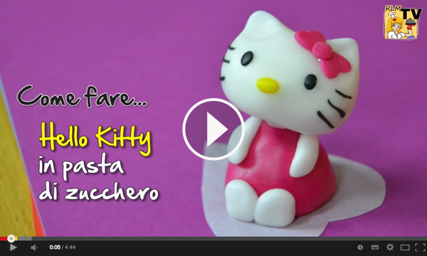 Video tutorial per realizzare Hello Kitty in pasta di zucchero