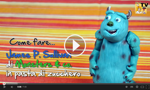 Video tutorial per realizzare James P. Sullivan in pasta di zucchero