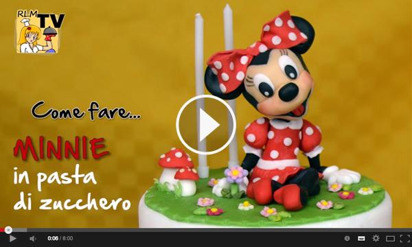 Video tutorial per realizzare Minnie in 3D in pasta di zucchero