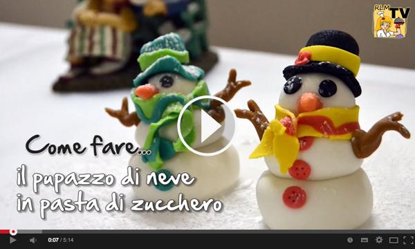 Video tutorial per realizzare un pupazzo di neve in pasta di zucchero