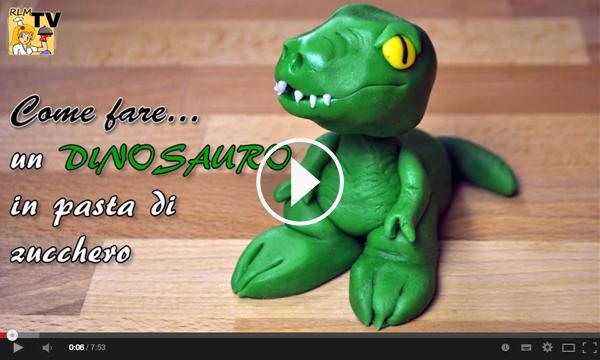 Come fare un t rex dinosauro in pasta di zucchero