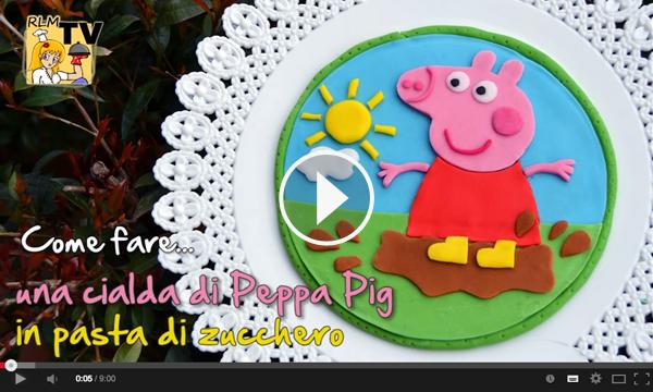 Come Fare Una Cialda Di Peppa Pig In Pasta Di Zucchero Ricette