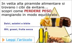 La piramide alimentare per tenersi in forma