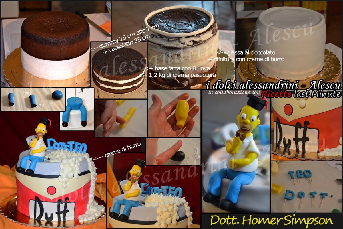 Torta Di Laurea Homer Simpson E Mega Lattina Duff Beer